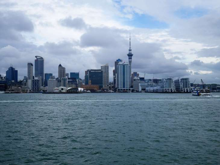 Round the world with my family in Auckland harbour