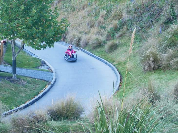 Family travel blog Queenstown luge