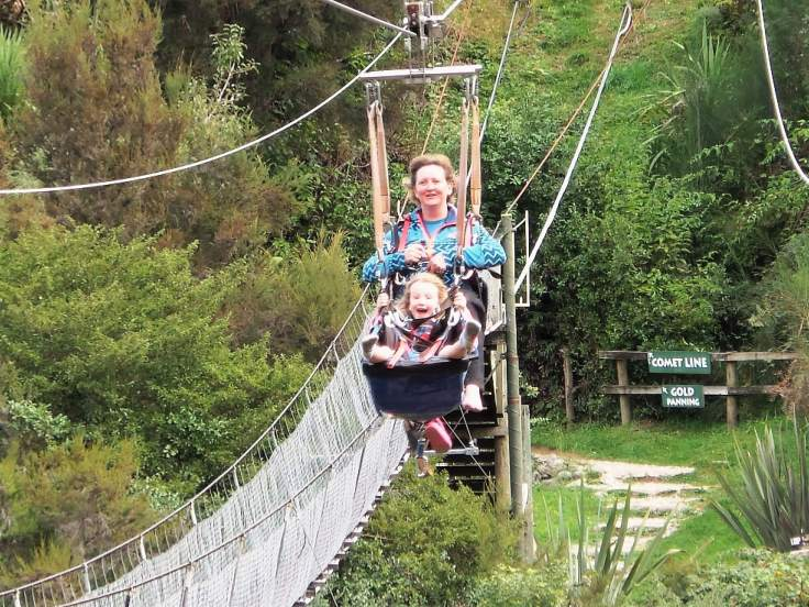 Round the world with my family at Buller River zip wire