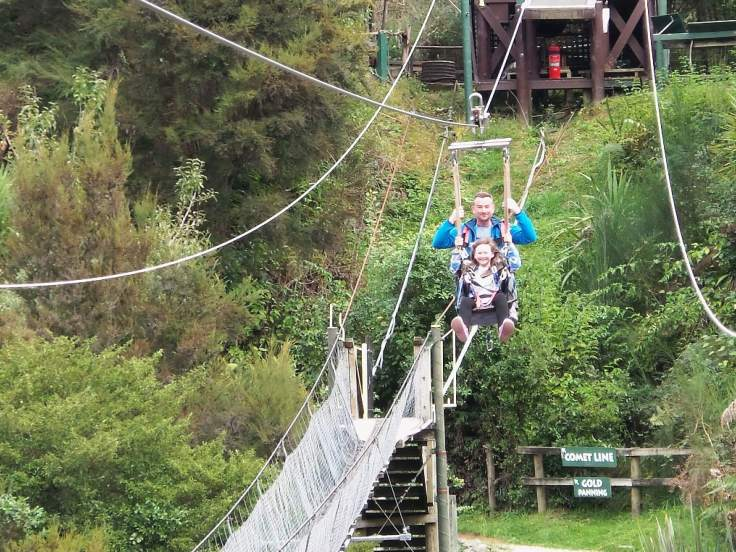 Round the world with my family at Buller River